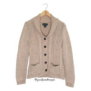 Eddie Bauer Cable Fable Knit Cardigan